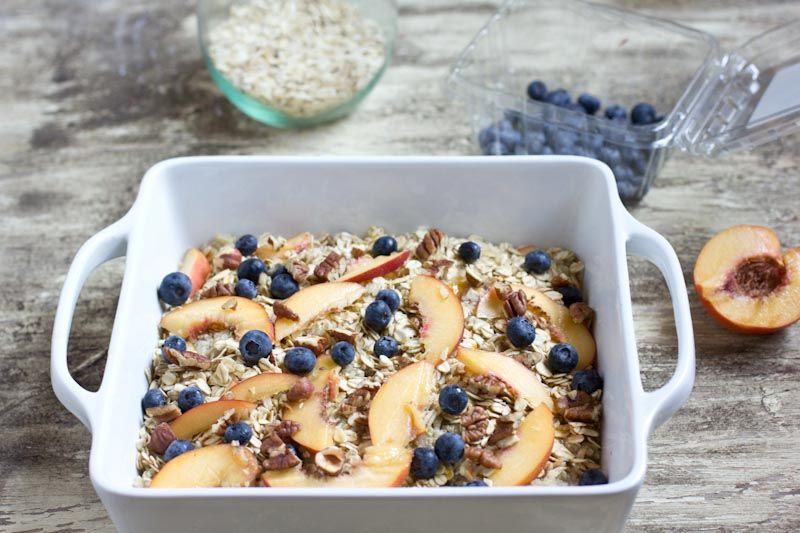 Photo of baked breakfast quinoa and oats •http://www.thevintagemixer.com