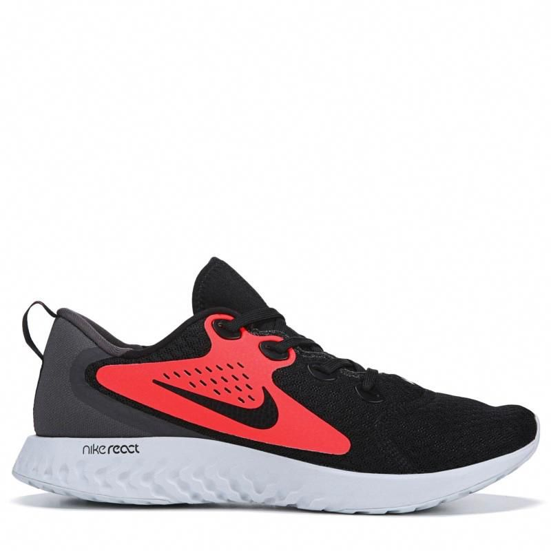 d7053b20b75 Nike Men s Legend React Running Shoes (Black Crimson Grey)