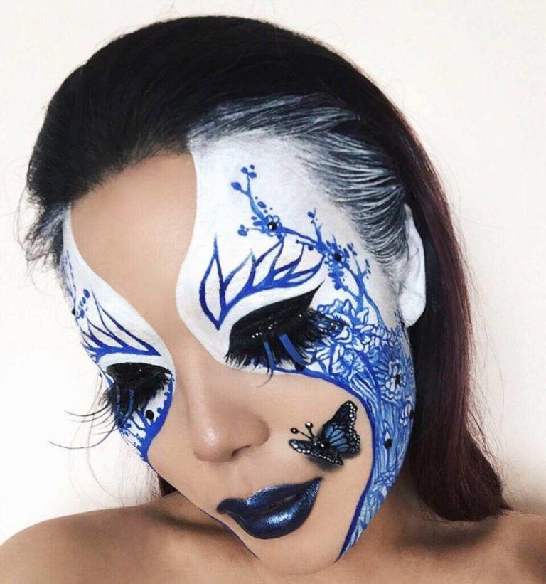 Makeup Artist Transform Girls With Optical Illusion No Photoshop Mimi Choi Cool Halloween Makeup Makeup Face Paint Makeup