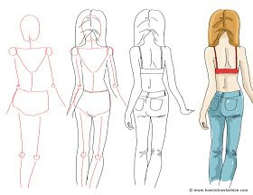 How To Draw A Person S Back Cute Girl Drawing Girl Drawing Girl Face Drawing