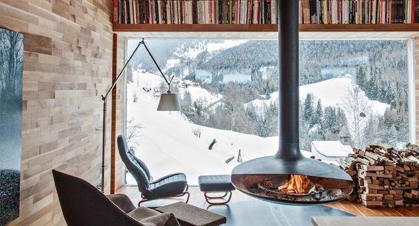 d coration int rieur d un chalet moderne et design en. Black Bedroom Furniture Sets. Home Design Ideas