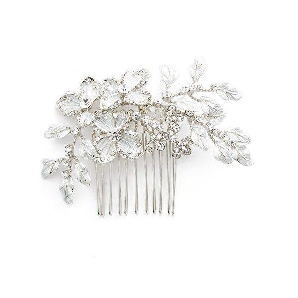 Vintage Flower Ivory Blue /& Teal Rustic Country Garden Bridal Hair Comb Slide