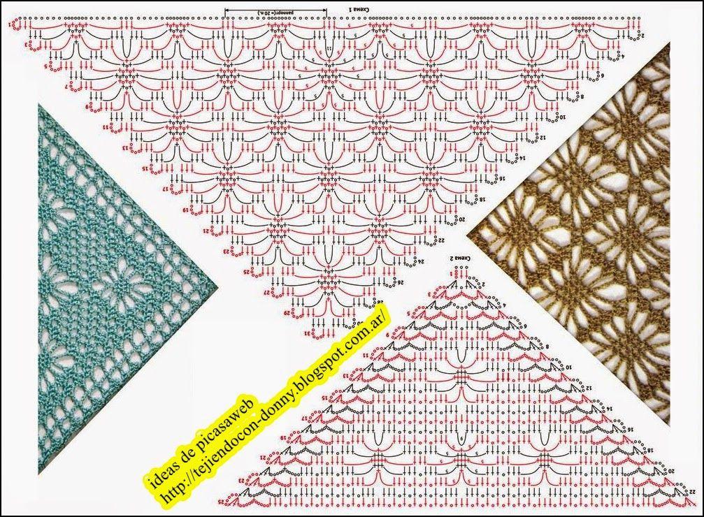 PATRONES - CROCHET - GANCHILLO - GRAFICOS: CHALINA | CAPES,CAPELETS ...