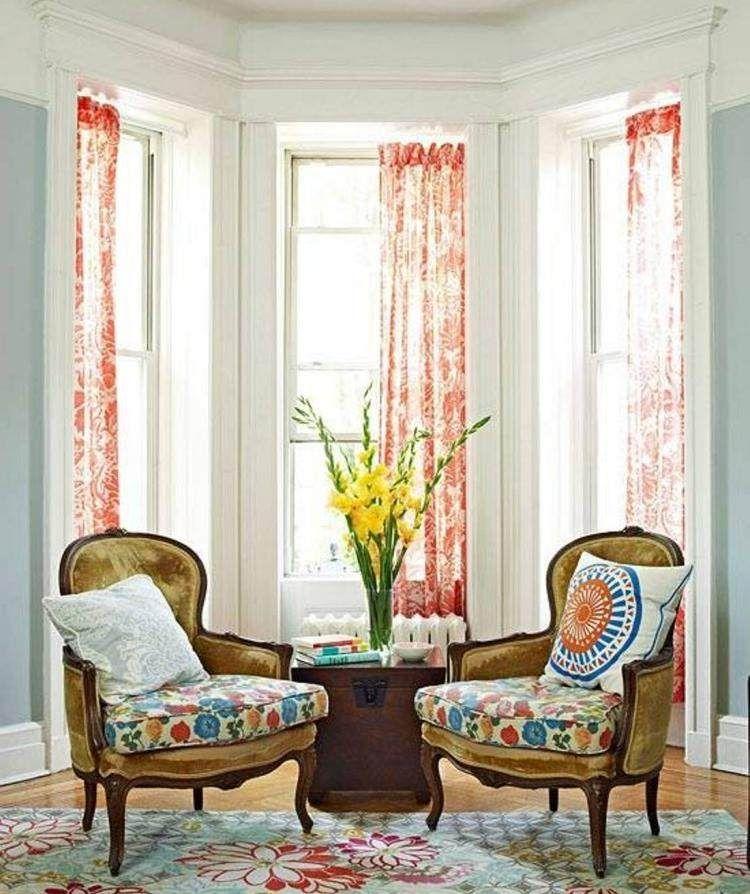 D coration fen tre en saillie 50 inspirations pour l 39 int rieur rideaux chez soi pinterest - Decoration fenetre interieur ...