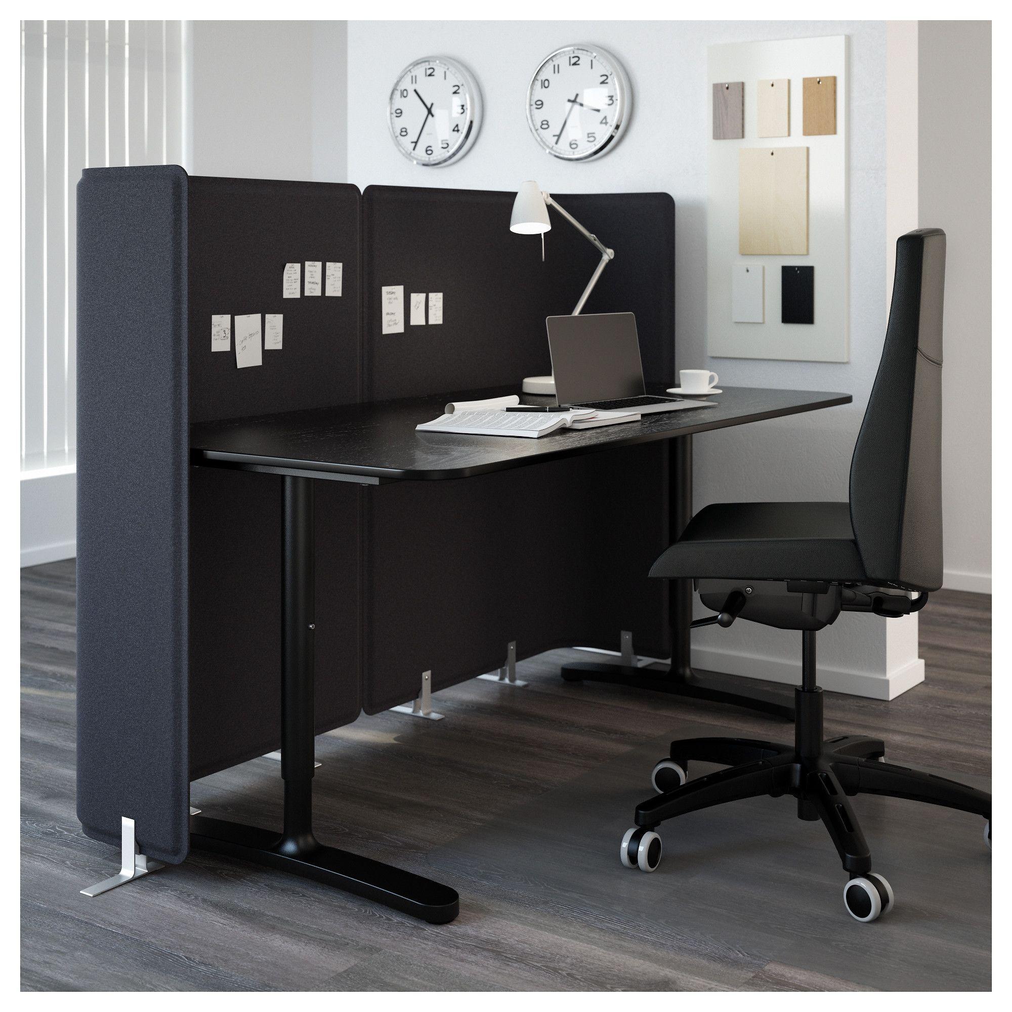 Bekant Abschirmung Fur Schreibtisch Grau Ikea Osterreich