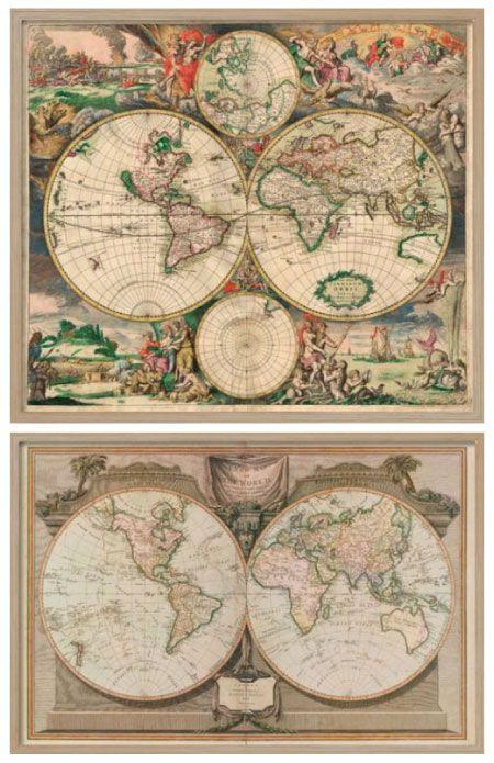Vintage world maps on httpeasyarttrends for e vintage world maps on httpeasyarttrends gumiabroncs Images