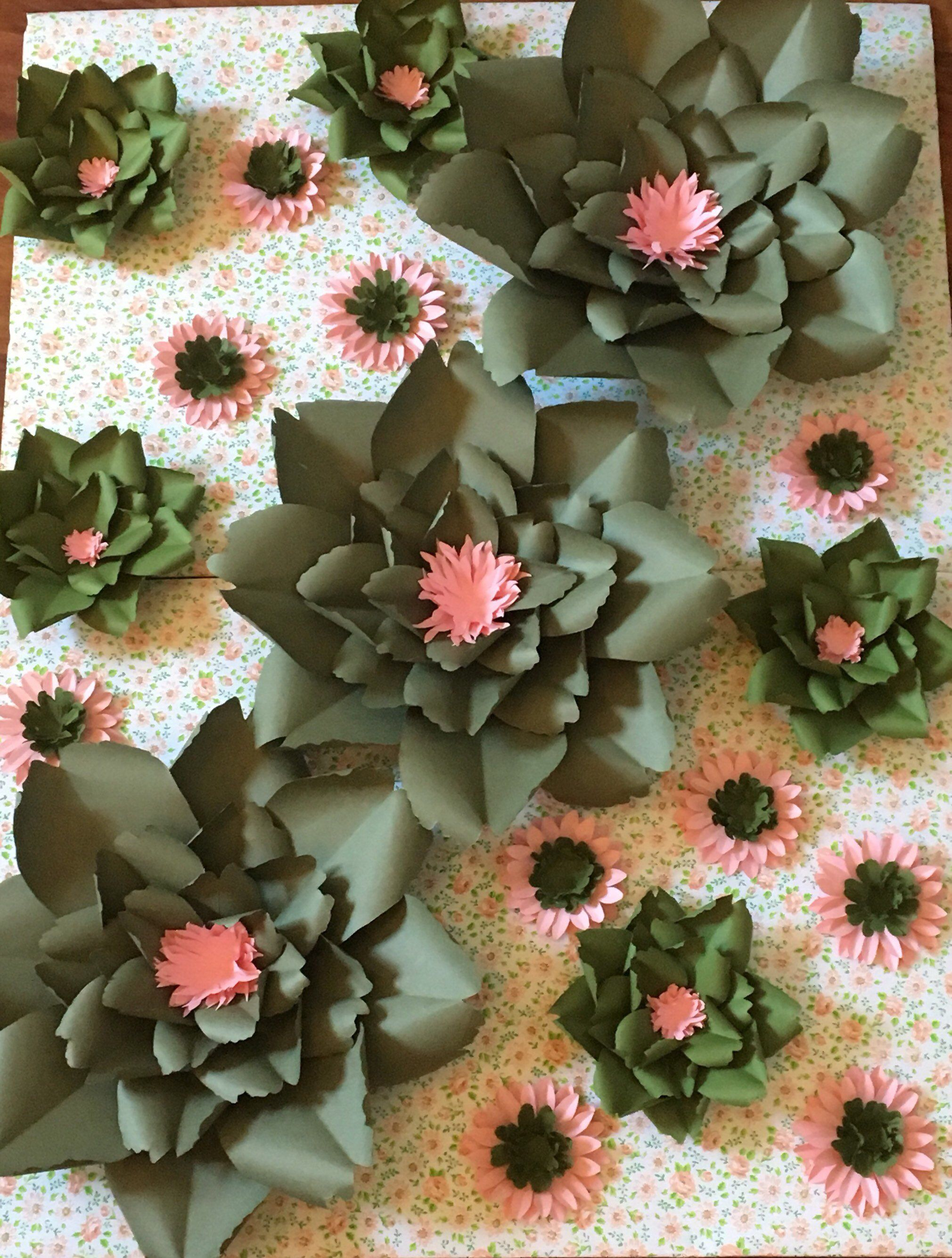 Large Paper Flowers Paper Flower Display Garden Party Display