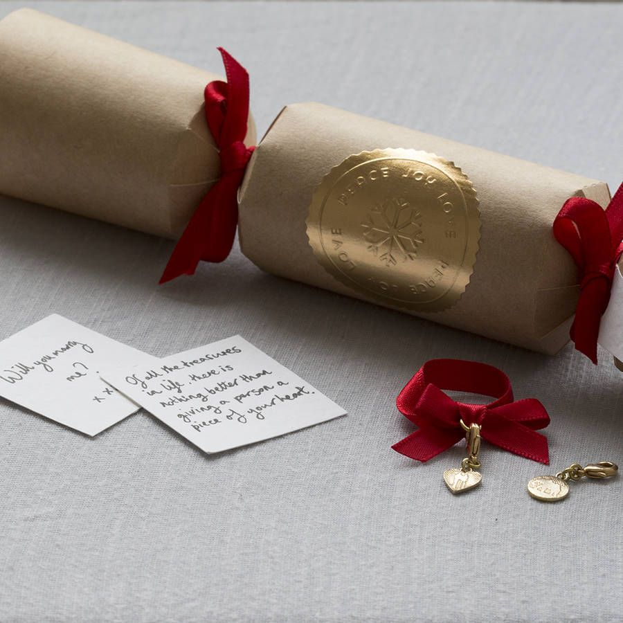 luxury christmas crackers with handmade charm inside more