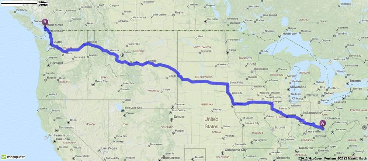 Map Quest Vancouver Canada Driving Directions from Portsmouth, Ohio to Vancouver, Canada