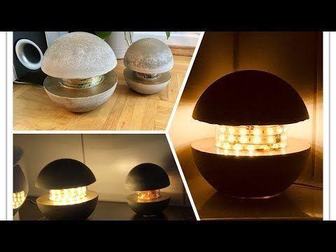 Betonlampe - DIY - Lampe aus Beton selber machen - YouTube ...