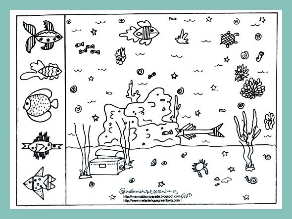 Free Printable Summer Coloring Pages Make Your Own Sea Life World From Childrens Book IllustratorMelanie