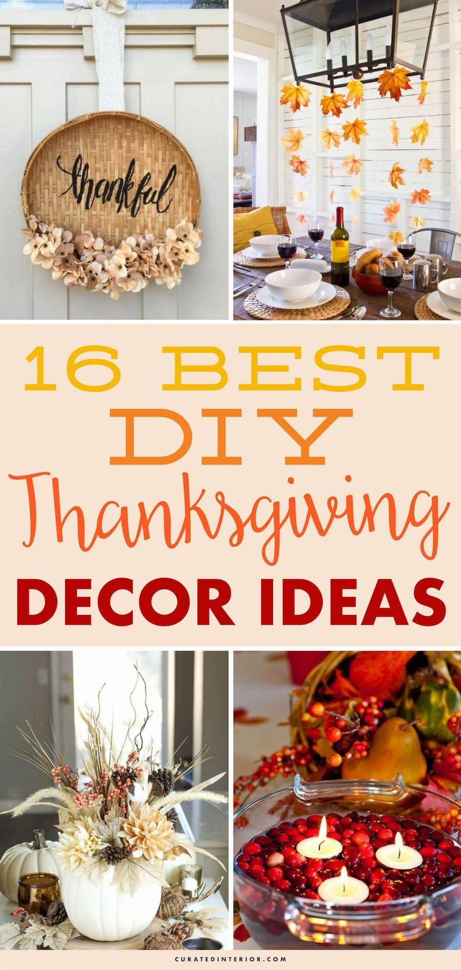 16 Creative Diy Thanksgiving Decor Ideas Thanksgiving Decor Ideas