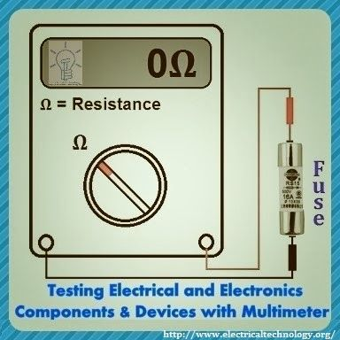Testing Electrical and Electronics Components and Devices with Multimeter | Electrical Technology