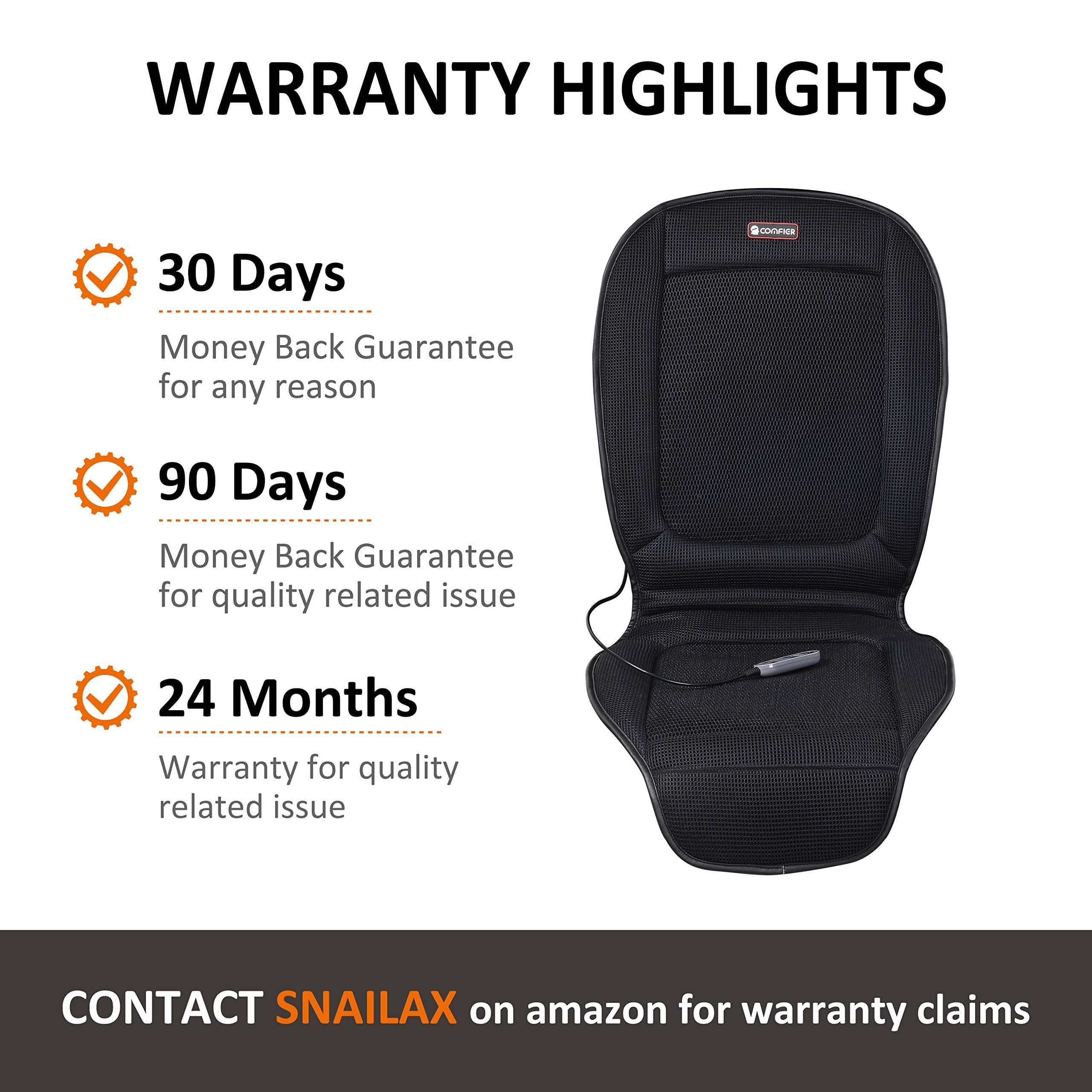 Snailax Seat Cushion With 3 Levels Cooling And 2 Levels Heating