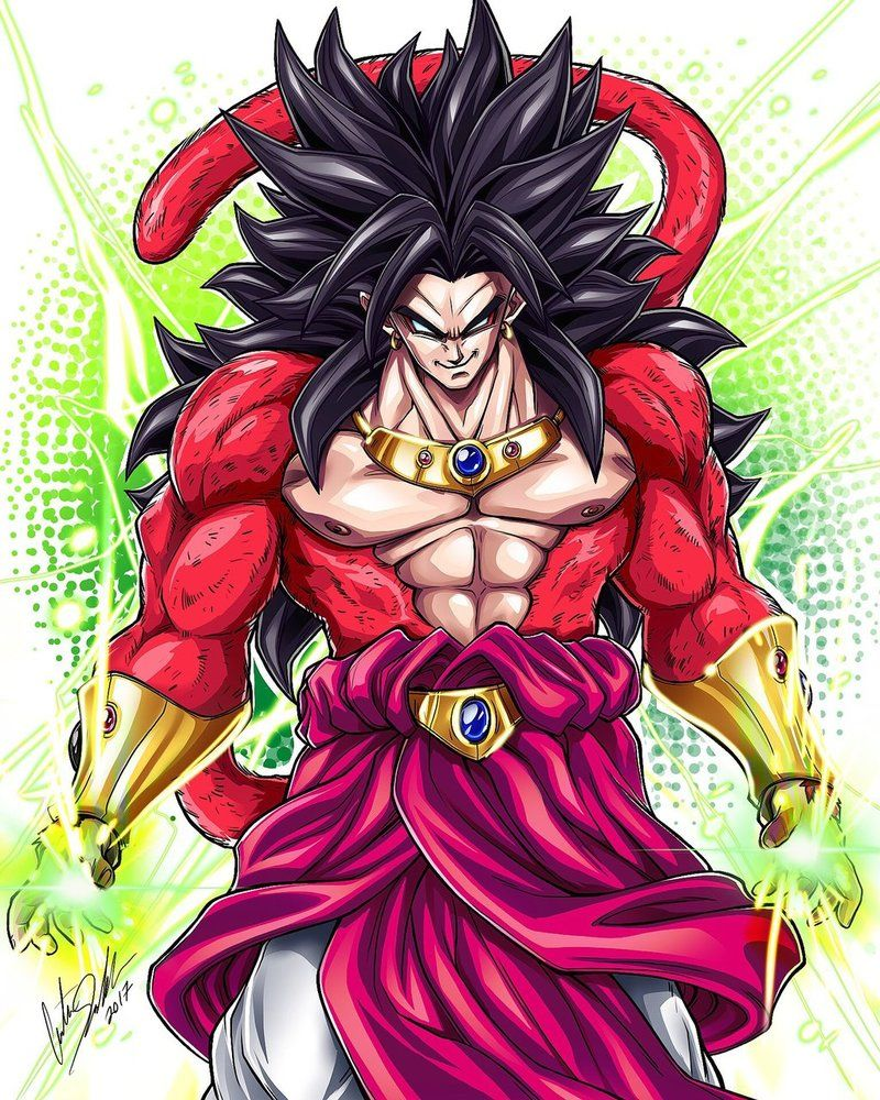 Super saiyan 4 broly by on - Broly dragon ball gt ...
