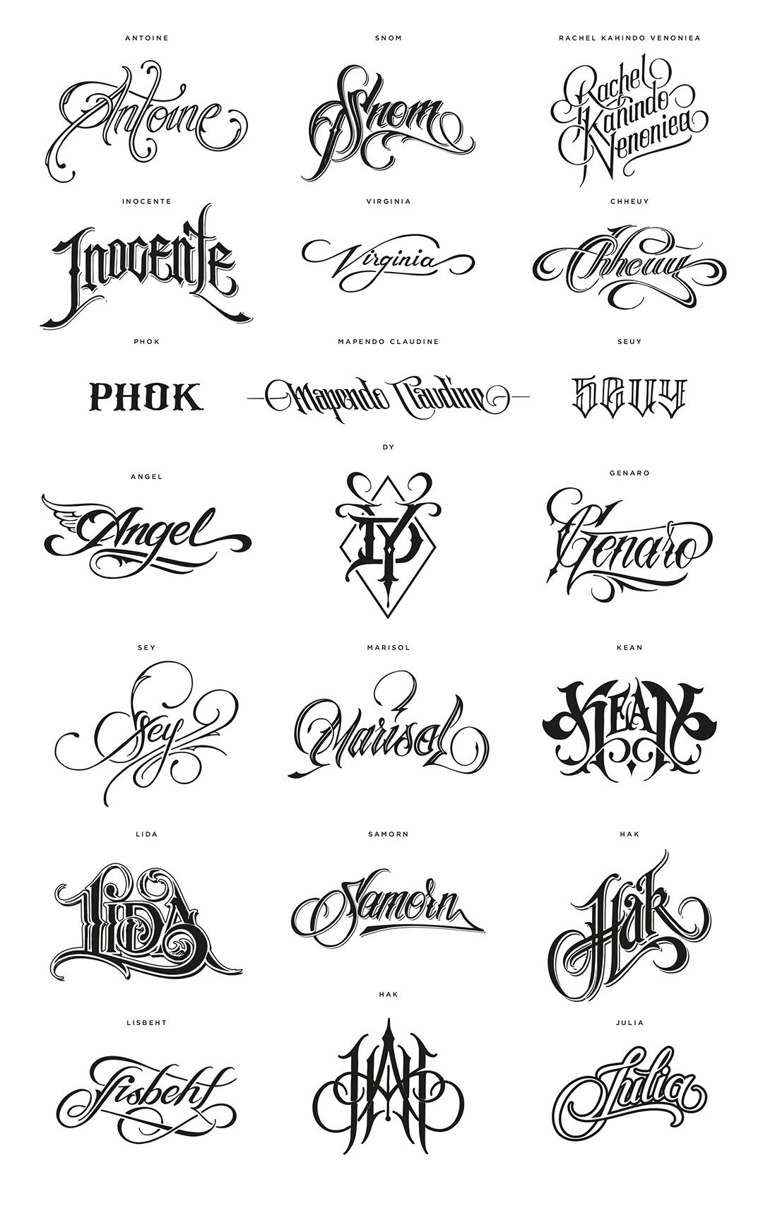 50 Tattoos For 50 Names Out Of The 805 Million People Suffering From Hunger In The World Today Ide Tato Tato Indah Huruf Grafiti