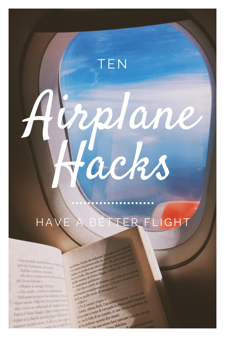 Airplane hacks for long flights. Tips and packing lists for long flights. Tricks to make travel easier and better for you and your toddler, kids, or for teens.  #Packinglist #travelhacks #travellifehacks #lifehacks #suitcases #whattowear #airlinetickets #airplanefood #airplaneideas #airplanesnacks #airplanesleep #airplanecarryon #airplaneseats