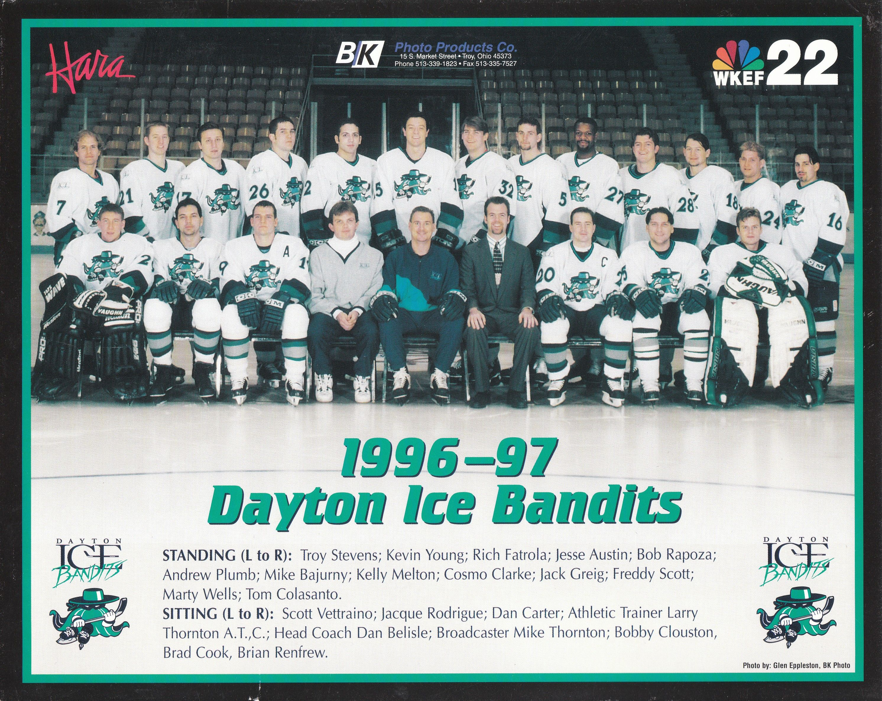 1996 1997 Dayton Ice Bandits Colors of Hockey Pinterest