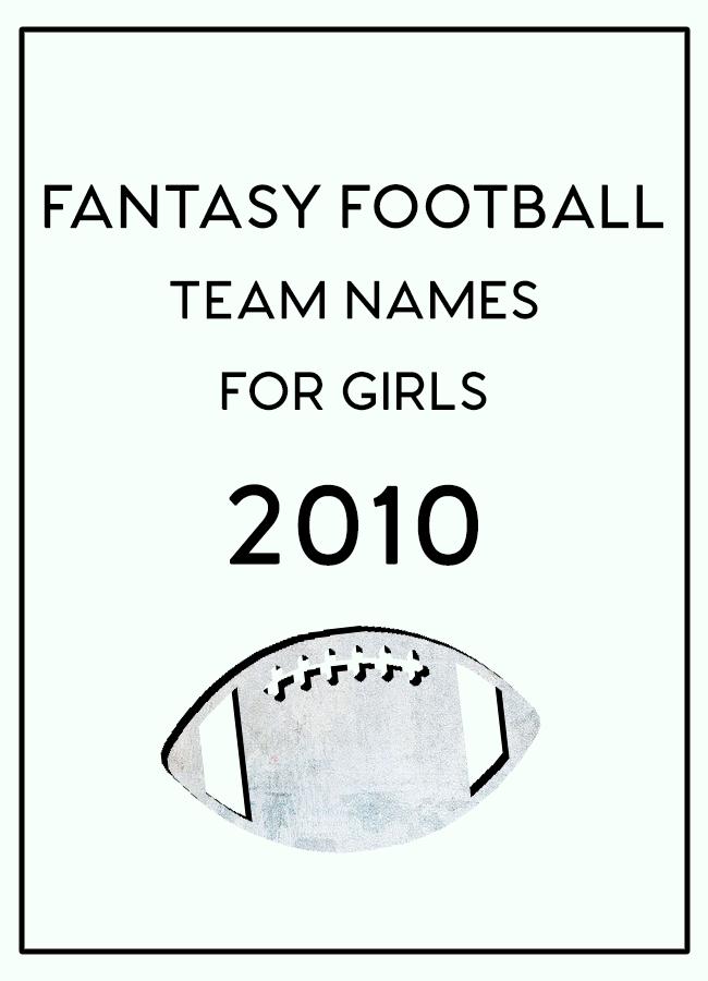 How To Play Fantasy Football Football team names