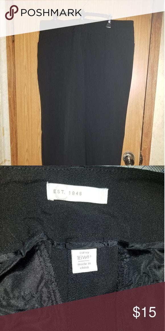 Cato Plus Size Dress Slacks Black plus size dress slacks ...