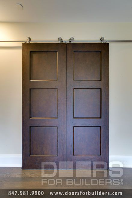 Our Barn Doors Need To Be More Narrow And With 12x12 Glass First Three Blocks Then Sold Wood In Bottom Custom Interior Doors Wood Entry Doors Interior Barn Doors