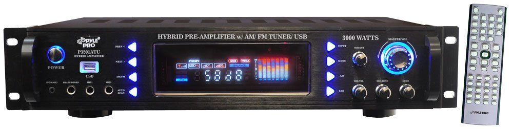 Pyle-Pro 3000 Watts Hybrid Pre Amplifier with AM,FM Tuner