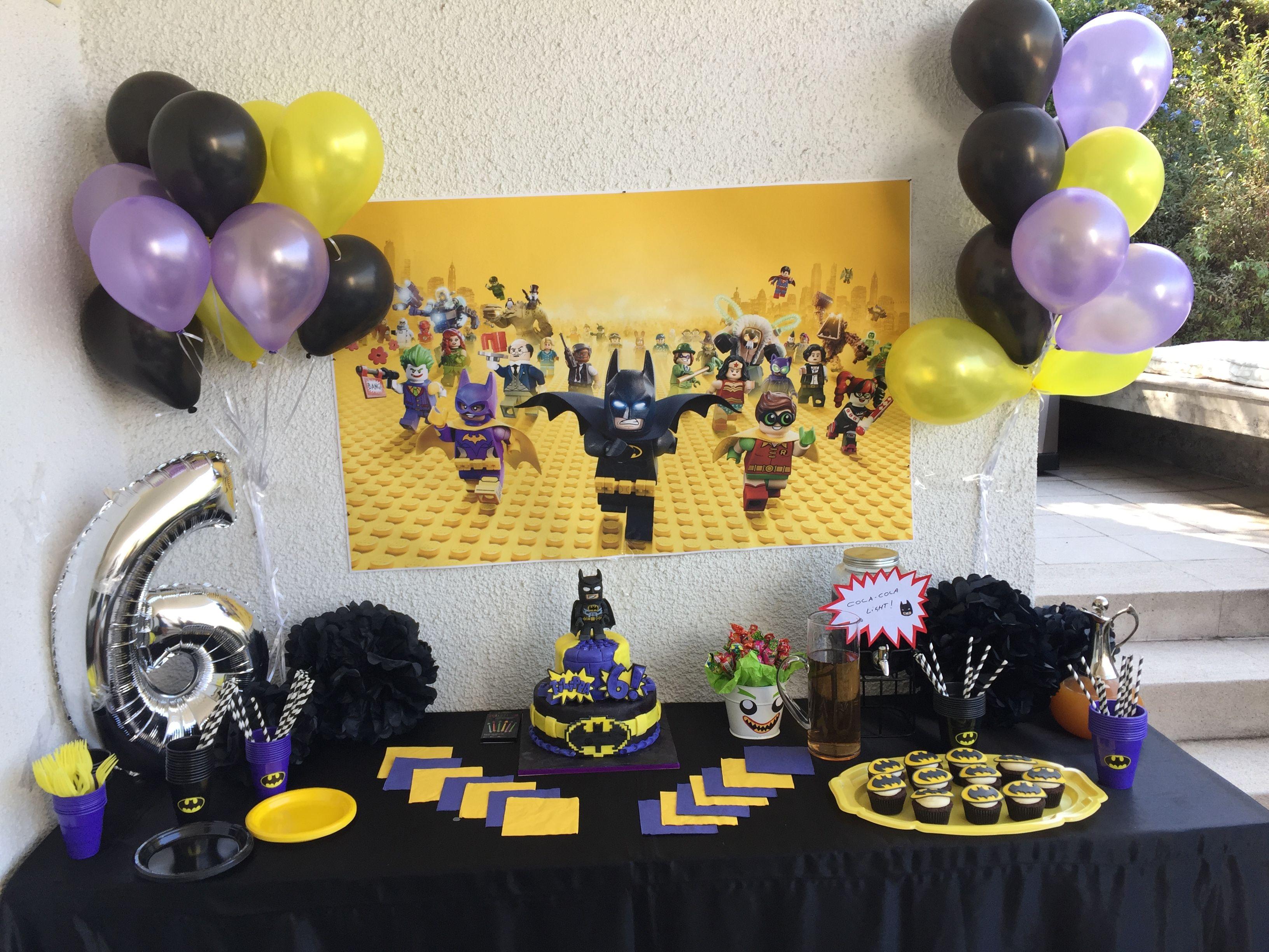 Batman lego birthday decoration Party decoration Pinterest