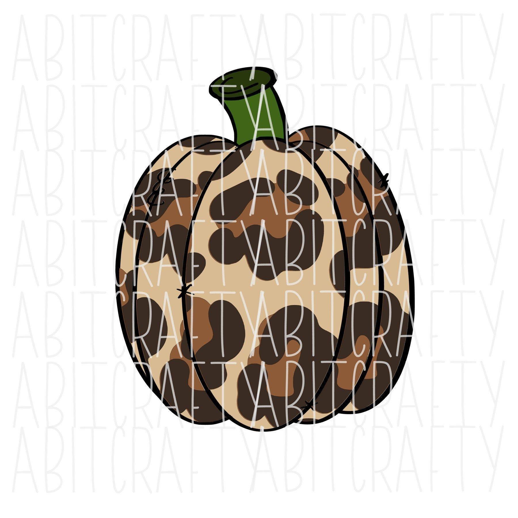 Fall/Leopard Pumpkin svg png sublimation digital download