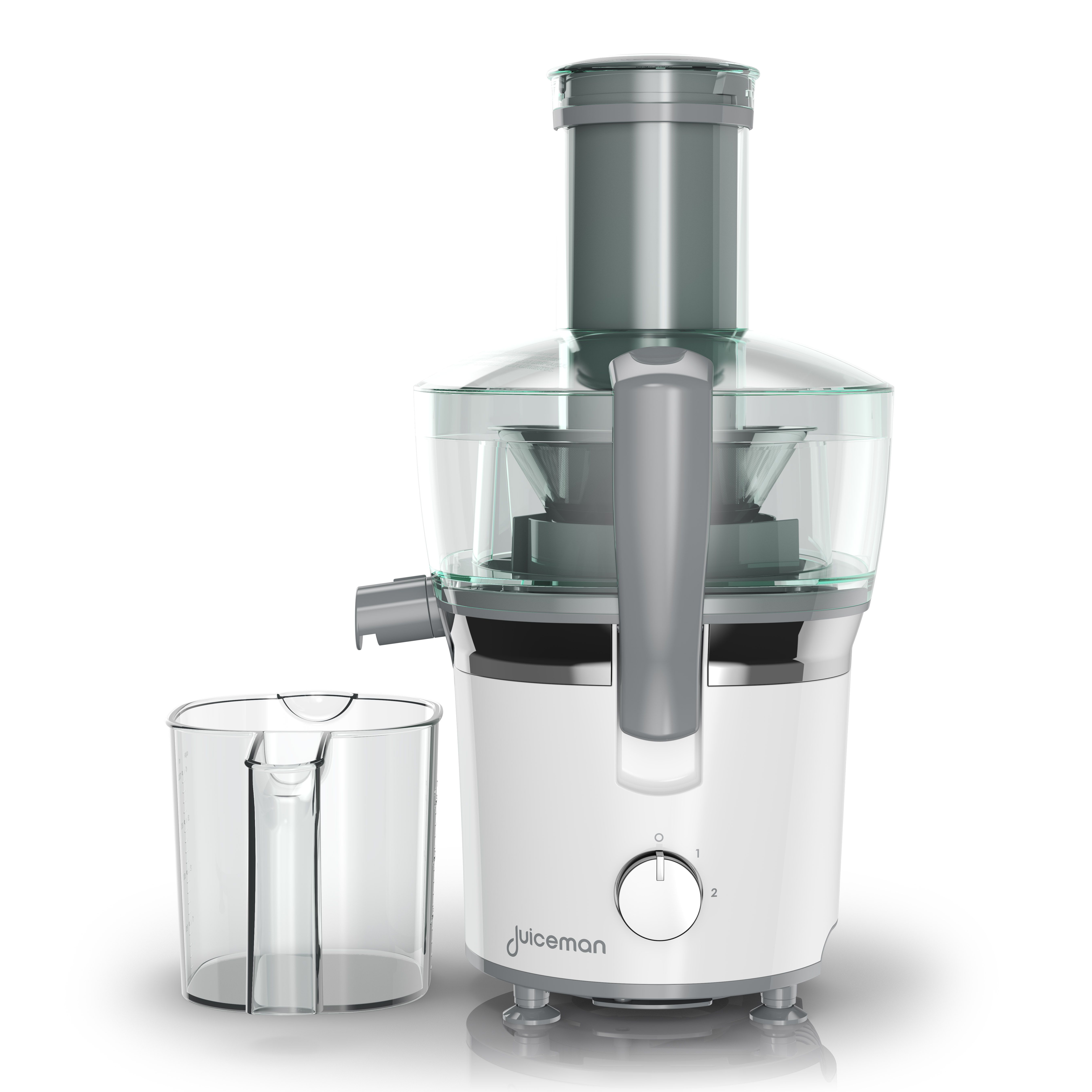 Juiceman Powerful Plus Compact Juicer with Attachment, White