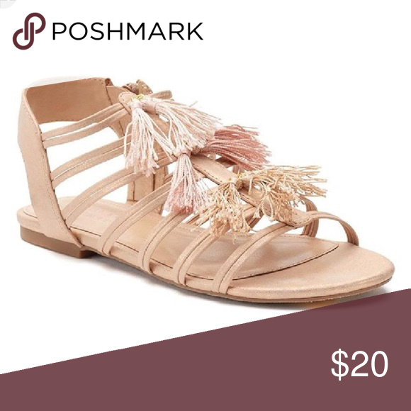LC Lauren Conrad Tan Nude Fringe Sandals Worn twice! In excellent  condition! Purchased from Kohl s last season. Make an offer. LC Lauren  Conrad Shoes ... d561bbb2d3d
