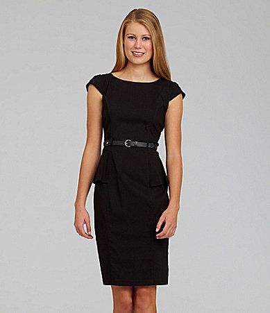 XOXO Belted Peplum Dress #Dillards I have this dress and it looks ...