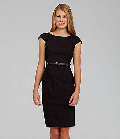 XOXO Belted Peplum Dress #Dillards | Fashion/Clothes | Pinterest ...
