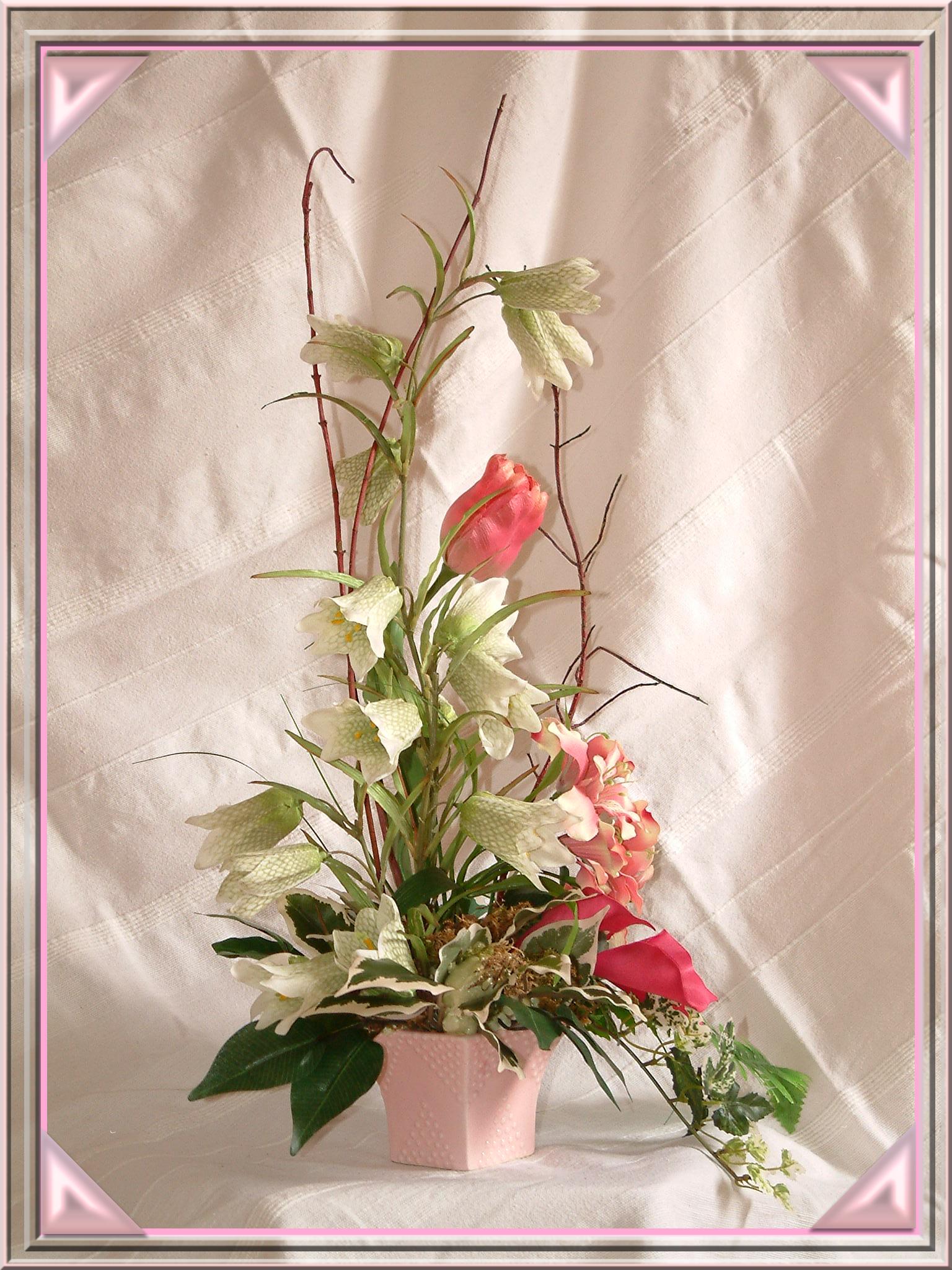 """""""Innocence"""" Composition Florale  Création Romy77"""