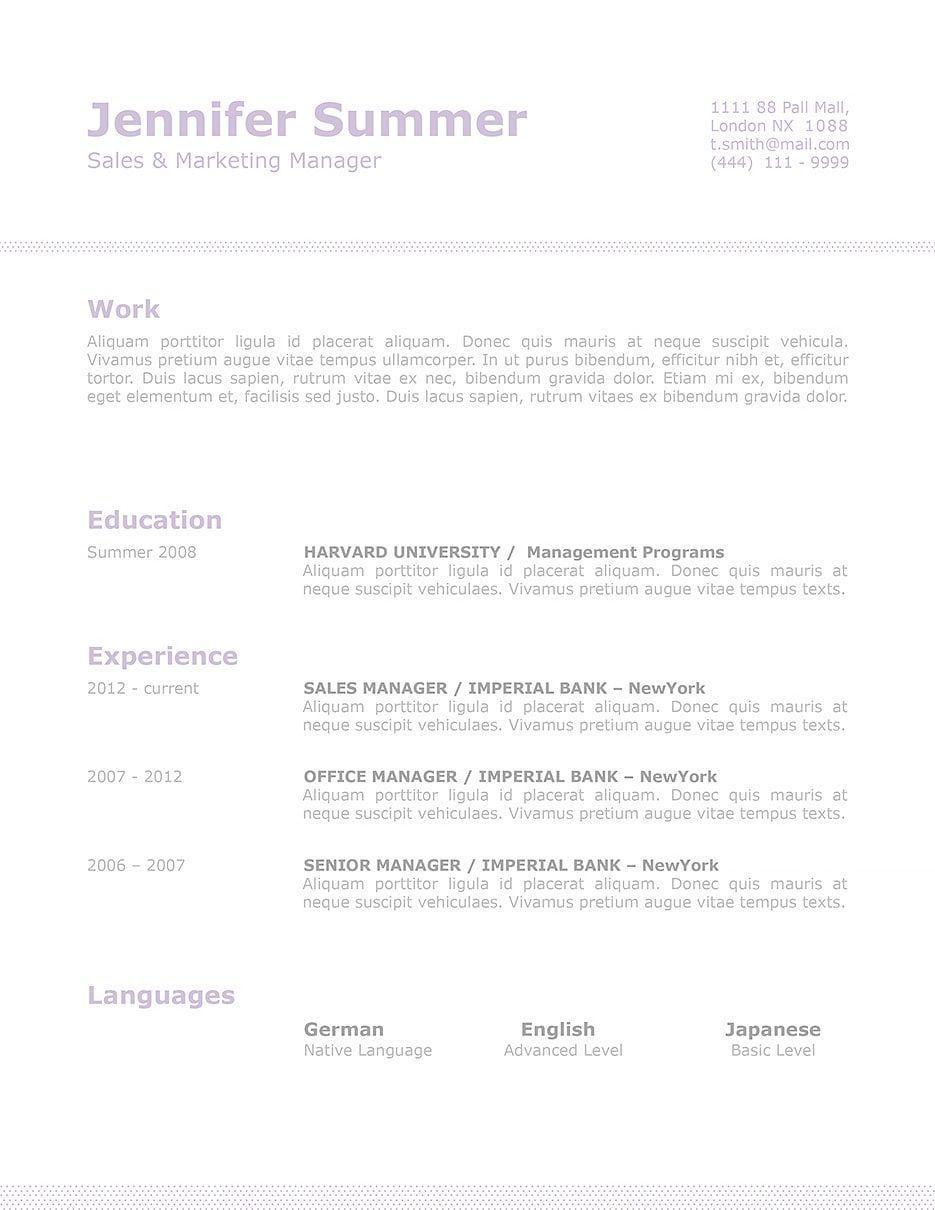 Resume Template 110710 Resume examples, Good resume
