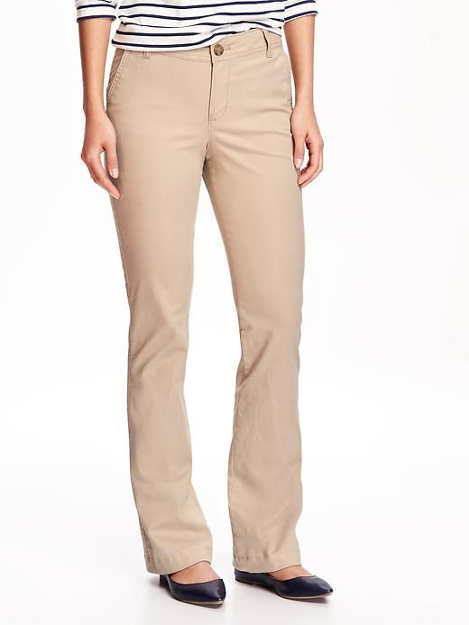 a072eeca0ee Mid-Rise Boot-Cut Khakis for Women in 2019