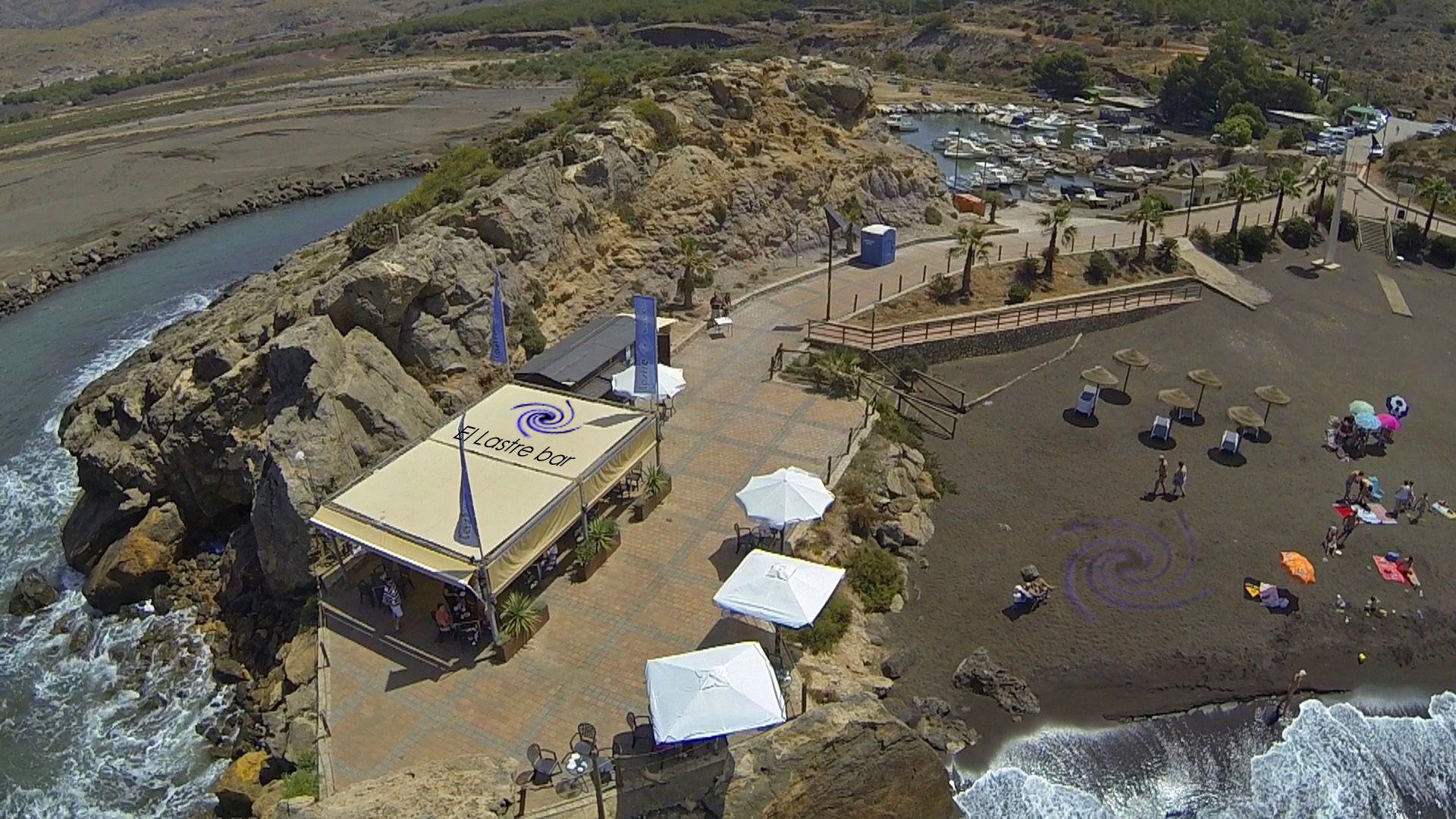 Foto Aerea Espectacula De El Lastre Bar Con El Embarcadero De Portman La Union Playa Bar Embarcadero