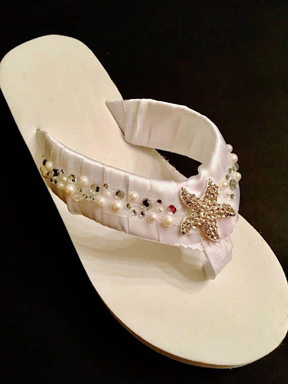 6f6497ea3b4ef9 Bridal Flip Flops  Wedges Wedding Shoes Wedding Flip Flops