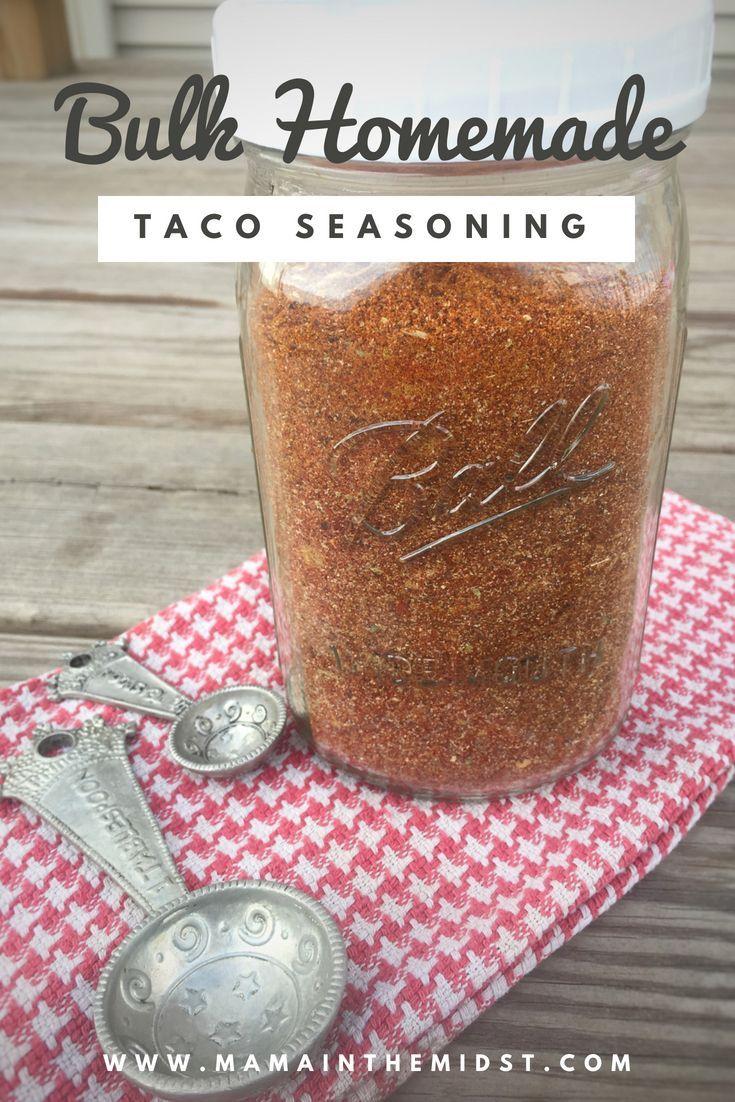 Bulk Homemade Taco Seasoning - Mama In The Midst #maketacoseasoning