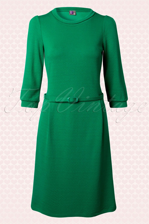 60s Donald Wow Retro Dress in Green