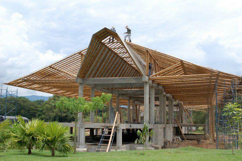 Bamboo In Construction Bambu Dekorasi