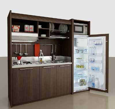 mini kitchen. perfect for guest space or small apartment | home