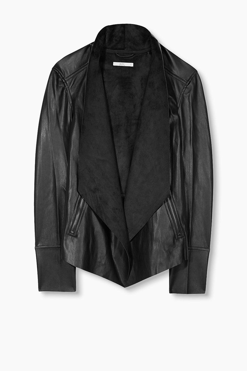 Style En Blazer Edc Vêtements Achats Similicuir Veste 8aqZtwSO