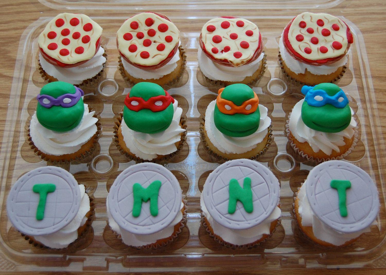 Teenage Mutant Ninja Turtle Edible Cupcake Toppers 28 00 Via Etsy Ninja Turtle Cupcakes Ninja Turtles Ninja Turtle Cake