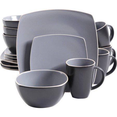 Gibson Soho Lounge Matte 16pc Dinnerware Set Gray/Black  sc 1 st  Pinterest & Gibson Soho Lounge Matte 16pc Dinnerware Set Gray/Black   Soho ...