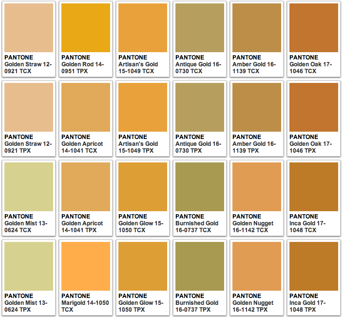 Pantone Gold   Beach Wedding Project    Pantone Gold