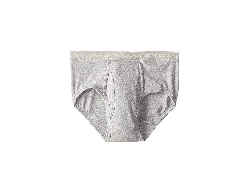 58c343187e75 Calvin Klein Underwear Cotton Classic Brief 4-Pack U4000 (Grey Heather)  Men's Underwear. Comfort and style reign supreme in classic Calvin Klein  underwear.
