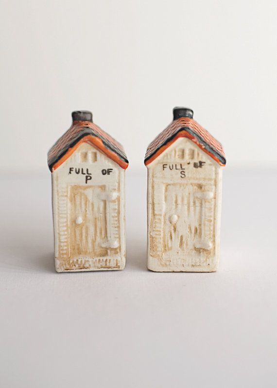 Vintage Shakers Found At ForestDaydream On Etsy.  Outhouse Shakers