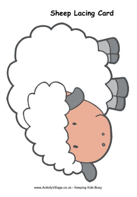 Sheep Lacing Card Lacing Cards Sheep Crafts Sewing Cards