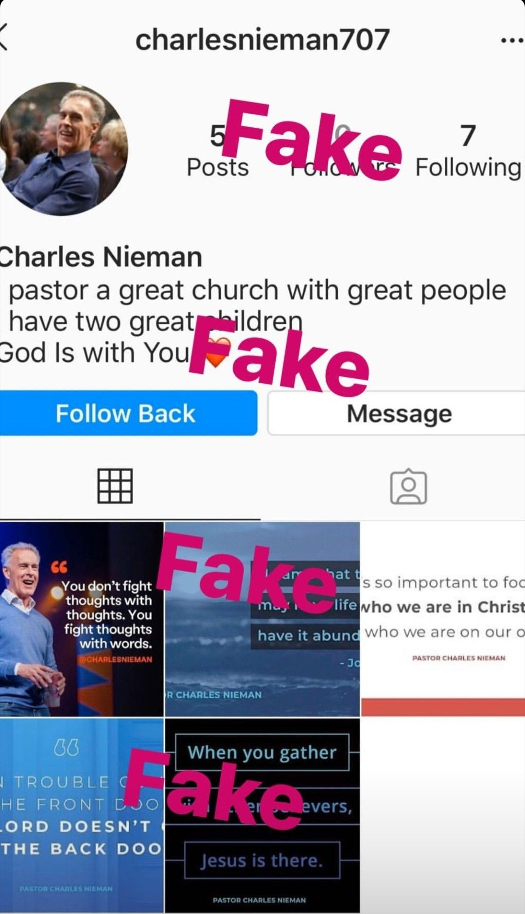 When People Don T Have A Life They Create Fake Accounts On Instagram Don T Follow Or Interact With Them Block And Report Back Message Hillsong Messages