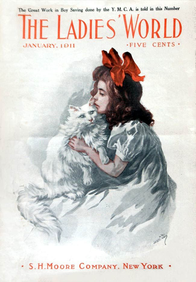 """""""The Ladies' World"""" magazine - January 1911 - Cover by George T. Tobin"""